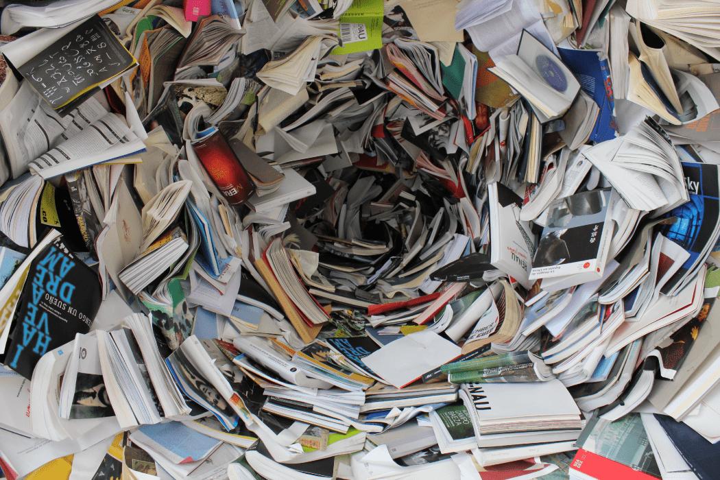 Vortex of papers