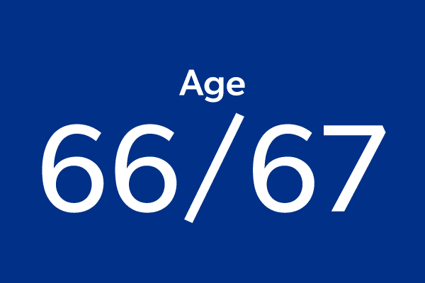 Age 66 or 67
