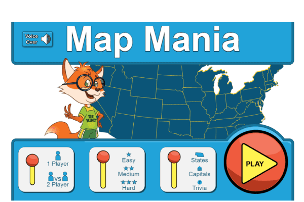Map Mania Game Graphic