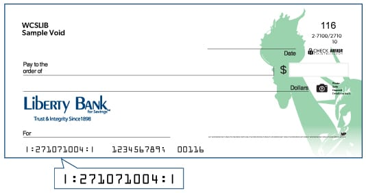 Image of Liberty Bank check