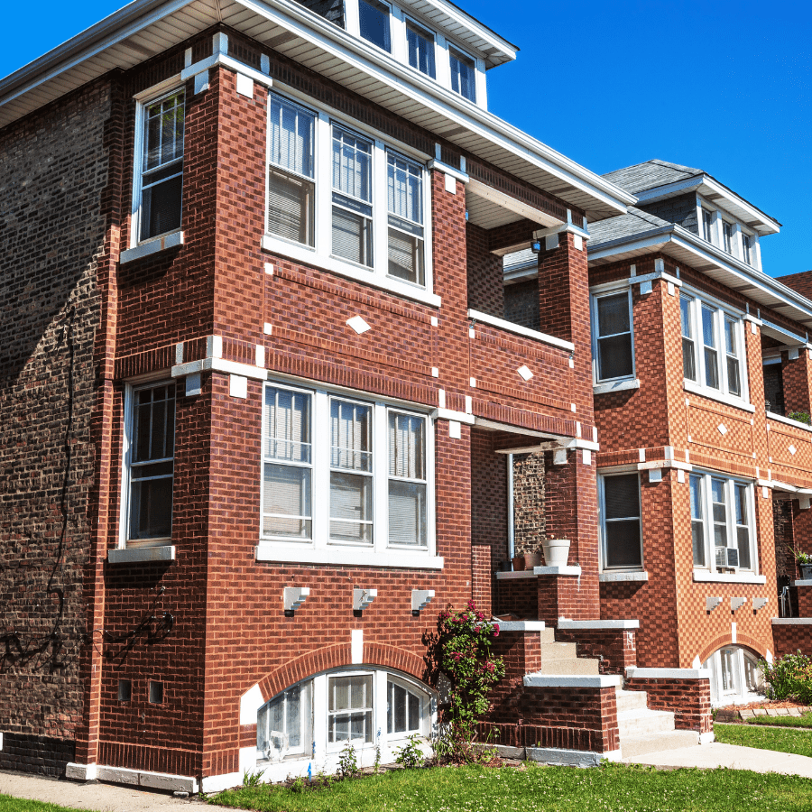 row of beautiful houses